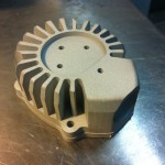 Imager X-Ray Tube Heat Sink with brass sheilding insert