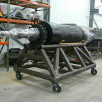Fabricated Cart for a 20,000 LB Turbine Rotor